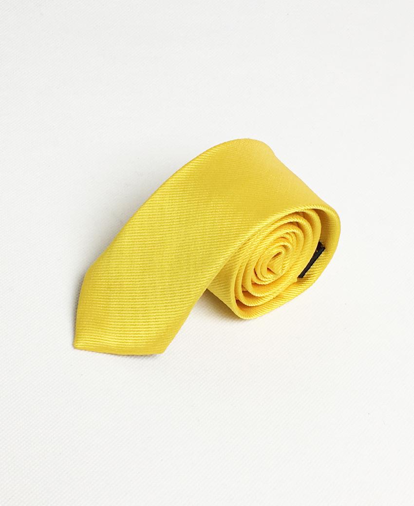 Cà vạt lụa màu vàng – bản nhỏ