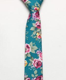 cà vạt hoa xanh