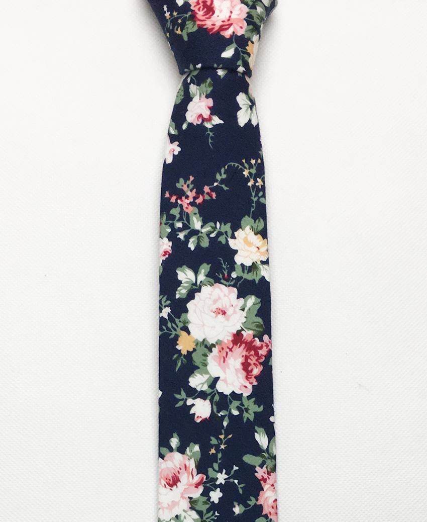 cà vạt hoa xanh đen – cvh08